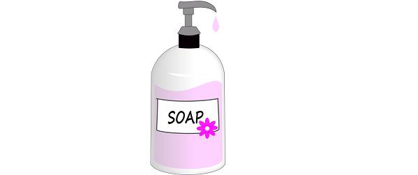 Il sapone liquido in casa