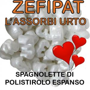 Zefipat, patatine e spagnolette di polistirolo espanso