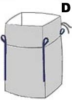 Sacco big bag per imballaggi