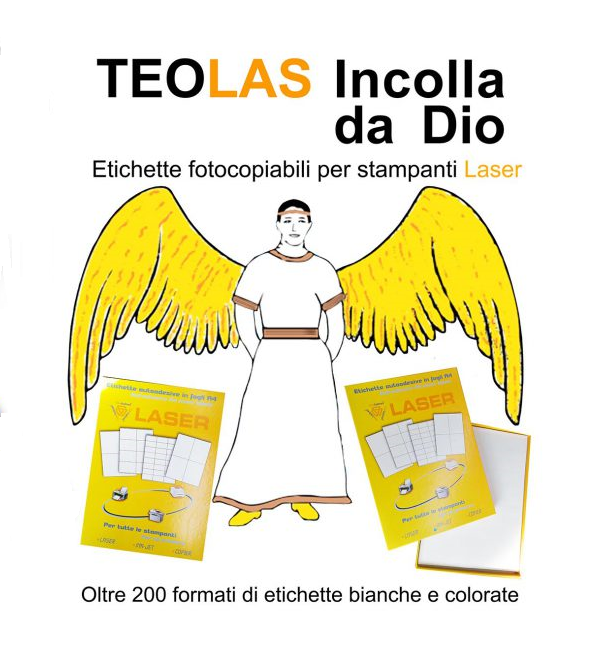 Logo di TEOLAS, Fogli Etichette Adesive A4