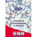 Produzione di etichette fogli A4 linea ETIFORM in oltre 100 formati