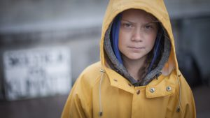 Greta Thunberg sacchetti ecologici
