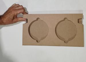 scatola fustellata in cartone