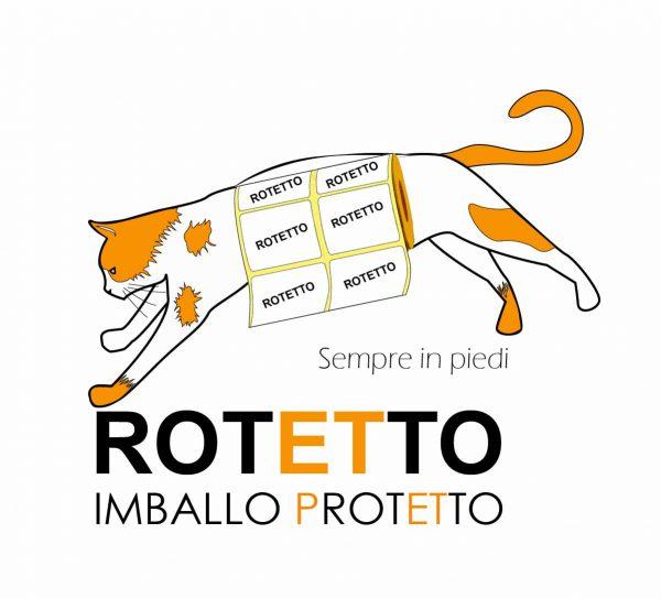 Logo di Rotetto: rotoli di etichette adesive Torino