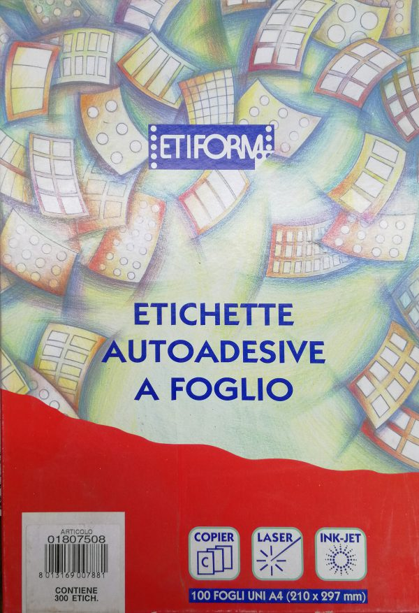 Scatola ETIFORM Etichette Autoadesive a foglio