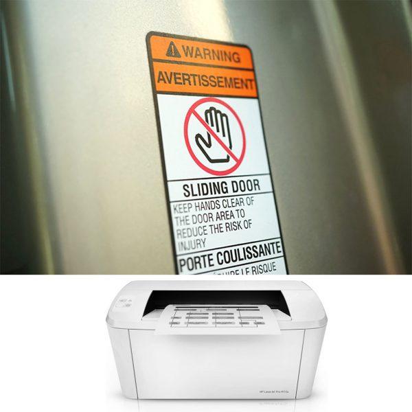 Etichette fogli A4 in poliestere, per stampanti laser e ink-jet