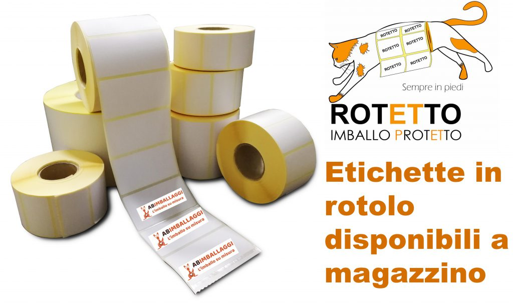 """Etichette adesive in rotolo """"Rotetto"""""""