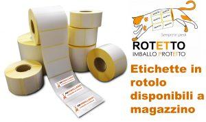 Etichette adesive in rotolo