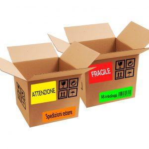Etichette adesive Fluorescenti in fogli di carta A4 |
