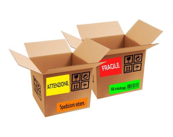 fogli A4 in carta fluorescente, rossa, gialla, verde e arancione