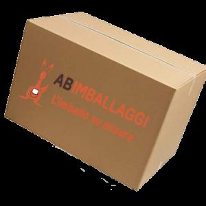 Scatola di cartone personalizzata con il logo di AB Imballaggi
